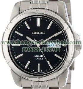 Seiko nam SNE093 Stainless Steel Solar Watch-hangxachtayshop