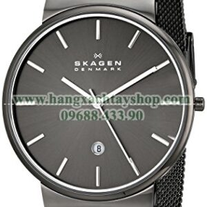 Skagen SKW6108 Ancher Grey IP Mesh Bracelet Watch with Grey Dial-hangxachtayshop