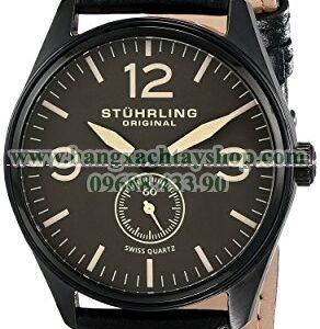 Stuhrling Original 931.02 Aviator Swiss Quartz Seconds Subdial Black-hangxachtayshop
