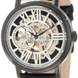Stuhrling Original nam 168S.33551 Classic Automatic Skeleton Round Black IP Watch Set-hangxachtayshop