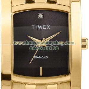 Timex Dress Analog 33mm Stainless Steel Bracelet Watch with Genuine Diamond-hangxachtayshop