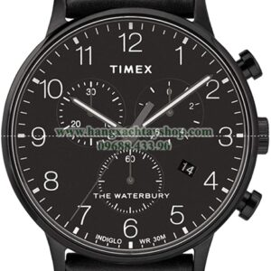 Timex TW2R71800 Waterbury Watch Black 40mm Stainless Steel-hangxachtayshop