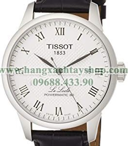Tissot T0064071603300 Powermatic 80 Silver Dial Black Leather Strap-hangxachtayshop