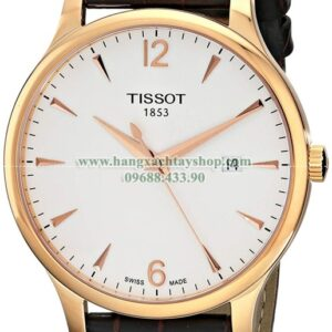 Tissot T0636103603700 Analog Quartz Brown Leather Strap Silver Dial-hangxachtayshop