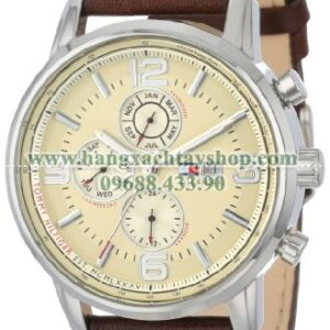 Tommy Hilfiger 1710337 Stainless Steel Watch with Leather Strap-hangxachtayshop