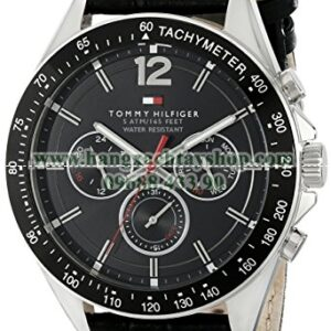 Tommy Hilfiger 1791117 Sophisticated Sport Watch With Black Leather Band-hangxachtayshop