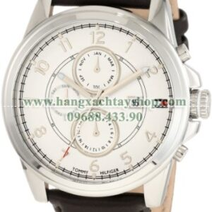 Tommy Hilfiger nam 1710294 Stainless Steel and Leather Strap White Dial-hangxachtayshop