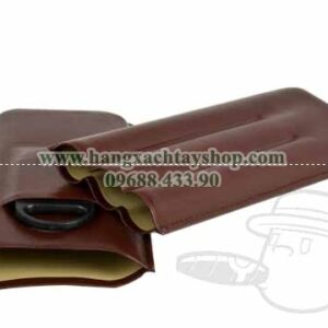 3-Finger-Brown-Leather-Travel-Case-With-Cutter
