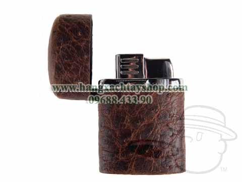 Table-Torch-Lighter-Genuine-Ostrich-Antique-Saddle