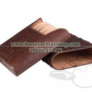 The-Show-Band-5-Cigar-Case-Genuine-Ostrich-Golfers-Case